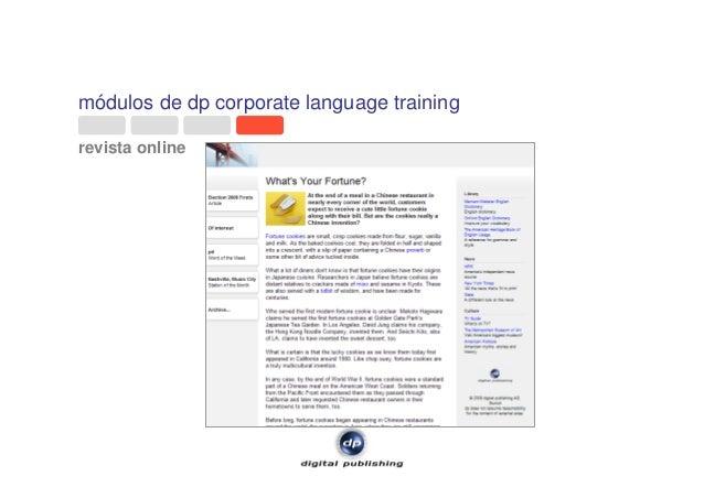 módulos de dp corporate language training revista online