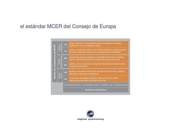 el estándar MCER del Consejo de Europa
