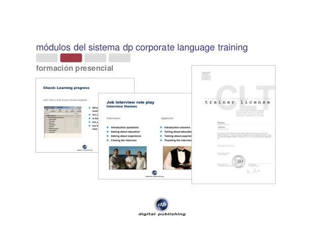 módulos del sistema dp corporate language training formación presencial