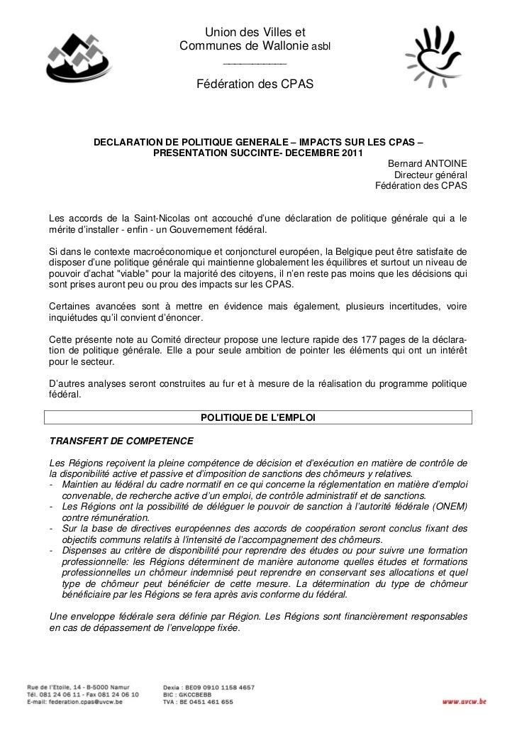 Union des Villes et                               Communes de Wallonie asbl                                          _____...