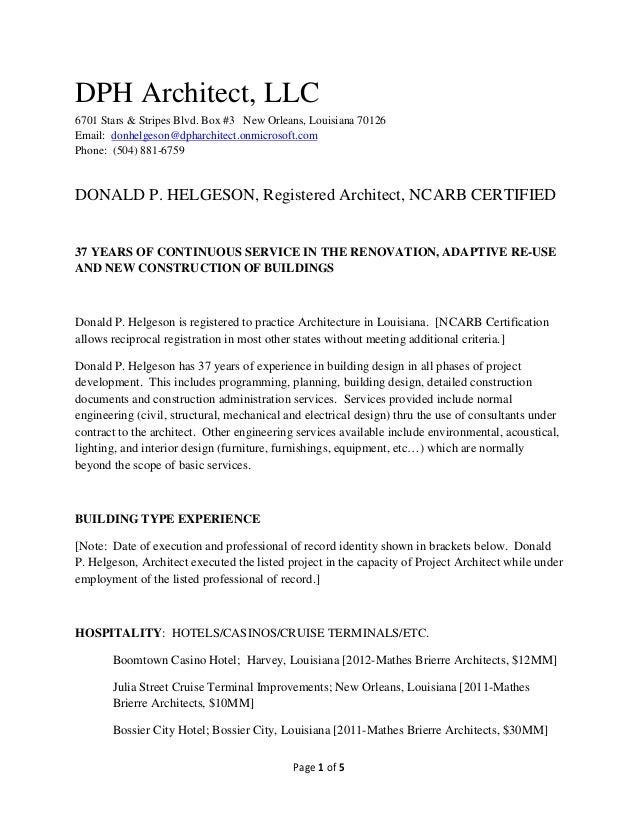 Lovely Page 1 Of 5 DPH Architect, LLC 6701 Stars U0026 Stripes Blvd. Box ...