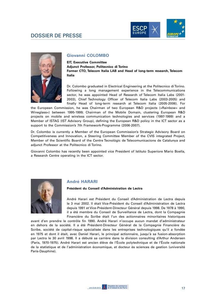 Dossier de presse inauguration de l 39 institut pour l - Petit cabinet de conseil en strategie ...