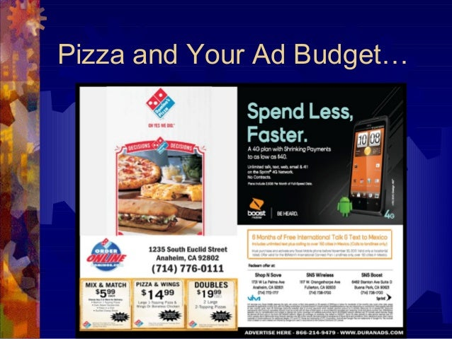 Pizza and Your Ad Budget…