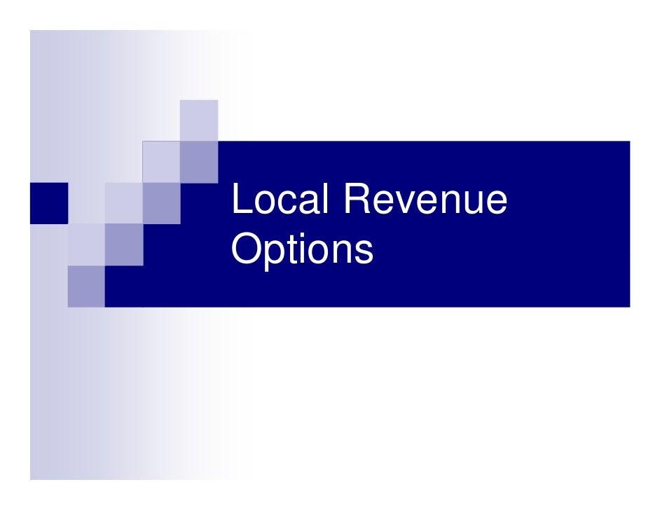 Local Revenue Options