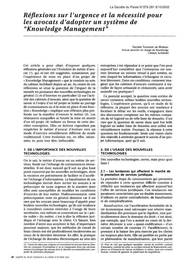 La Gazette du Palais N°279-281 8/10/2002