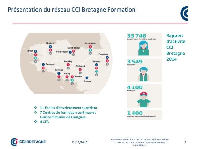 2 Point de départ des travaux sur l'individualisation des formations et pédagogie numérique CCI Bretagne Point de départ d...