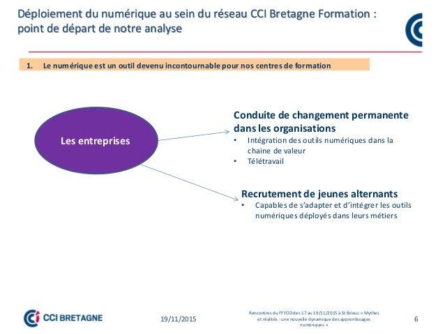 6 Point de départ des travaux sur l'individualisation des formations et pédagogie numérique CCI Bretagne Point de départ d...