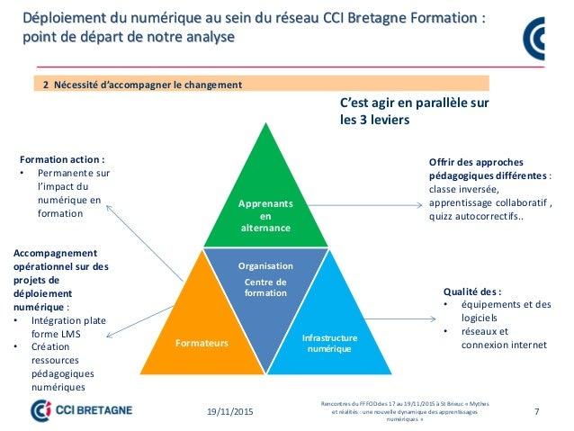 7 Point de départ des travaux sur l'individualisation des formations et pédagogie numérique CCI Bretagne Point de départ d...