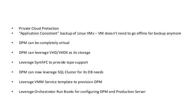 Protecting Microsoft Virtualization with DPM 2012 R2