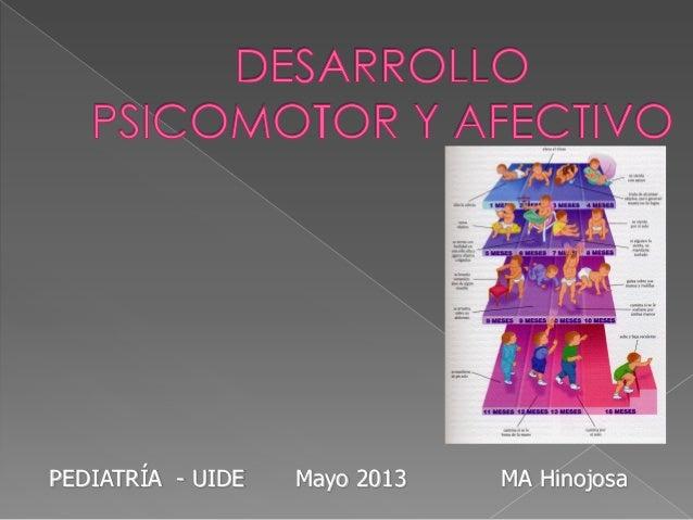 PEDIATRÍA - UIDE Mayo 2013 MA Hinojosa