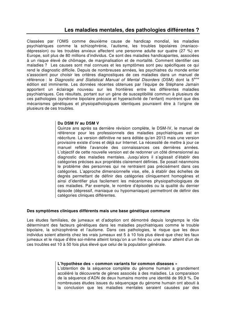 Le nouveau visage des maladies psychiatriques, Inserm 19 mai 2010 Slide 2