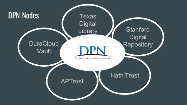 Digital preservation in production dpn and duracloud vault for Production vault