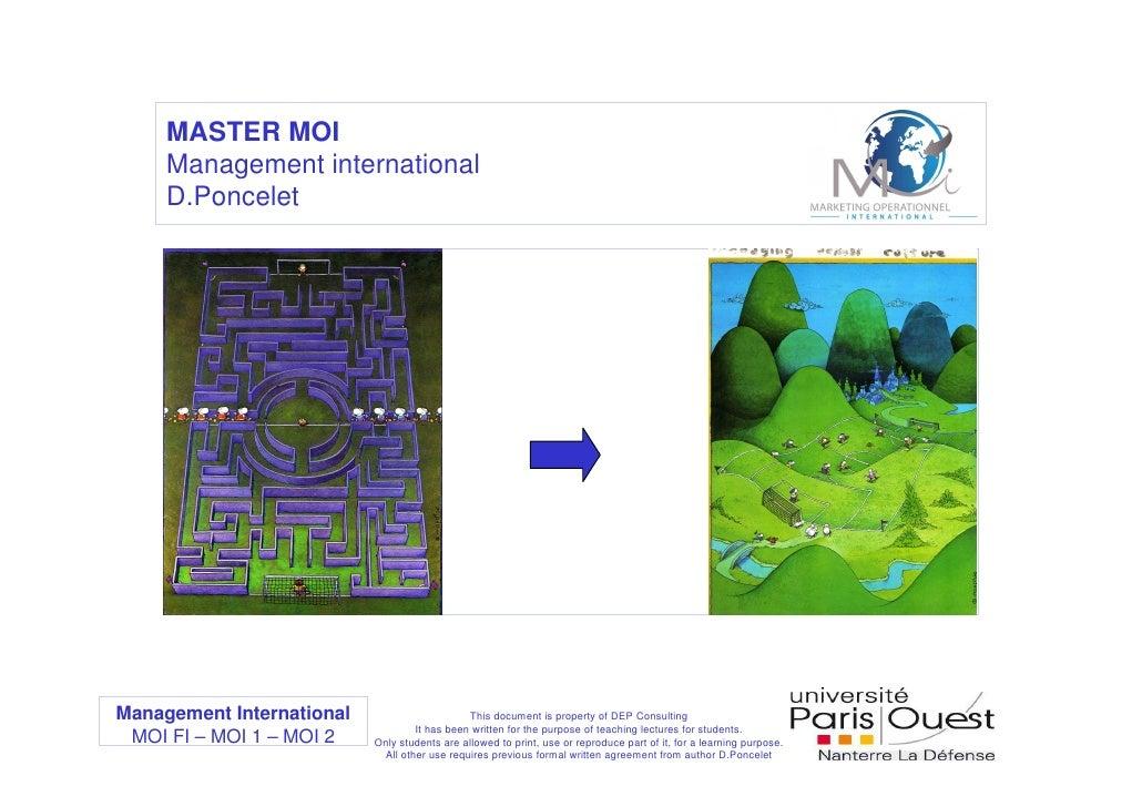 MASTER MOI      Management international      D.Poncelet     Management International                      This document i...
