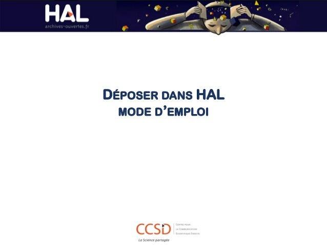 DÉPOSER DANS HAL MODE D'EMPLOI