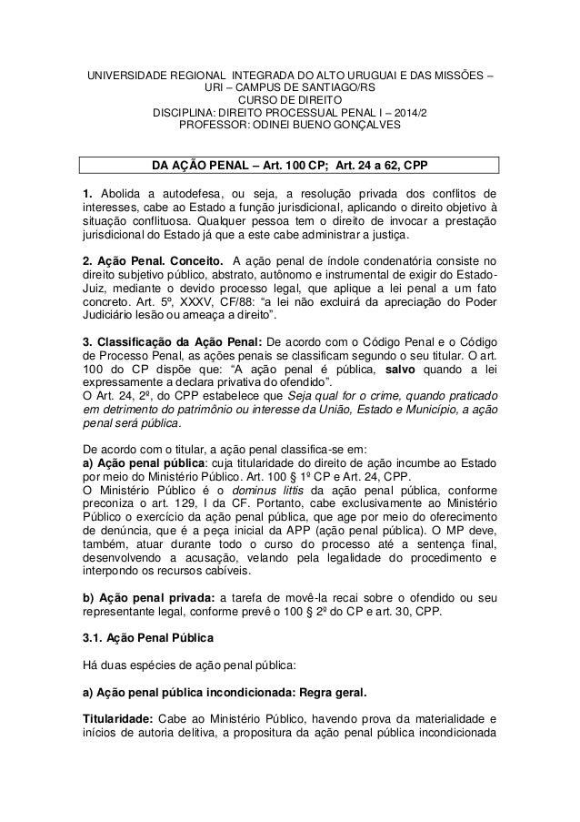 UNIVERSIDADE REGIONAL INTEGRADA DO ALTO URUGUAI E DAS MISSÕES – URI – CAMPUS DE SANTIAGO/RS  CURSO DE DIREITO  DISCIPLINA:...