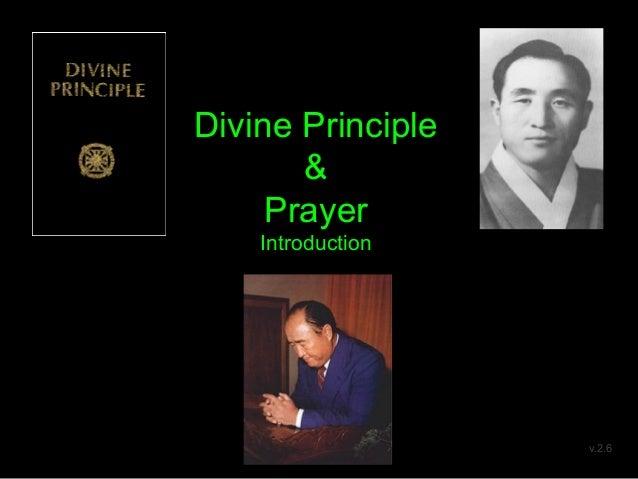 Divine Principle & Prayer Introduction v.2.6