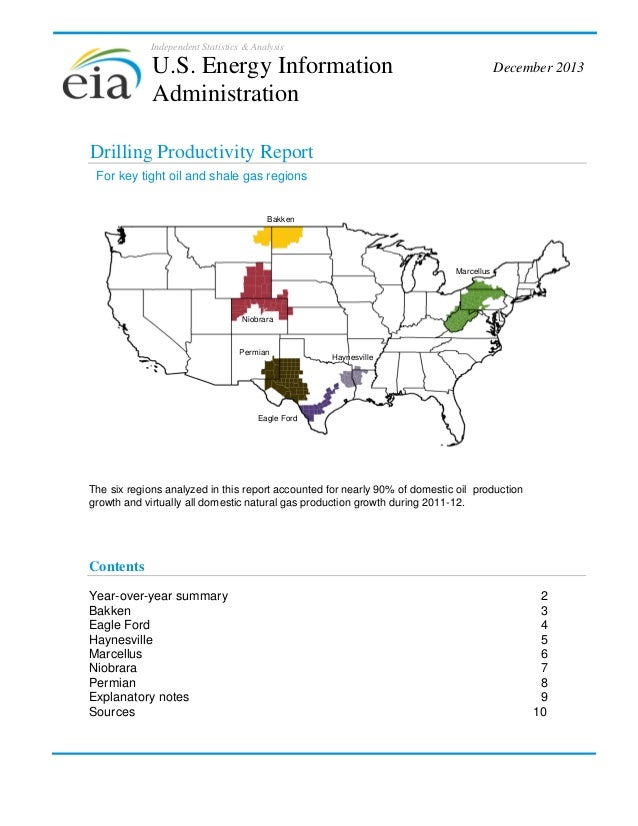 Independent Statistics & Analysis  U.S. Energy Information Administration  December 2013  Drilling Productivity Report For...