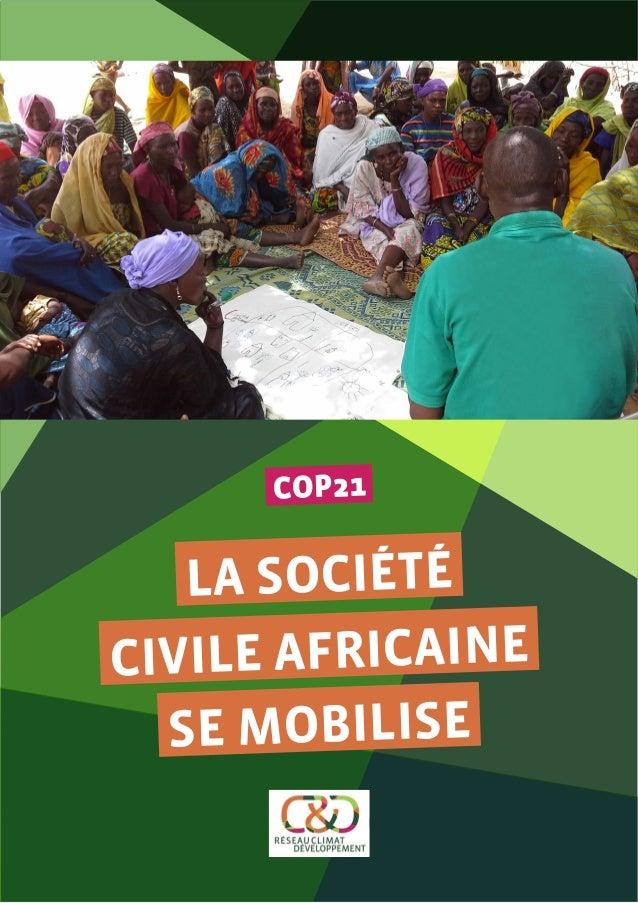 COP21 LA SOCIÉTÉ CIVILE AFRICAINE SE MOBILISE