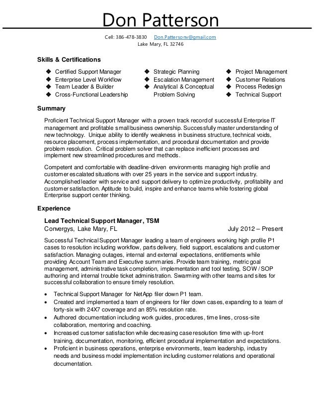 don patterson linkedin resume