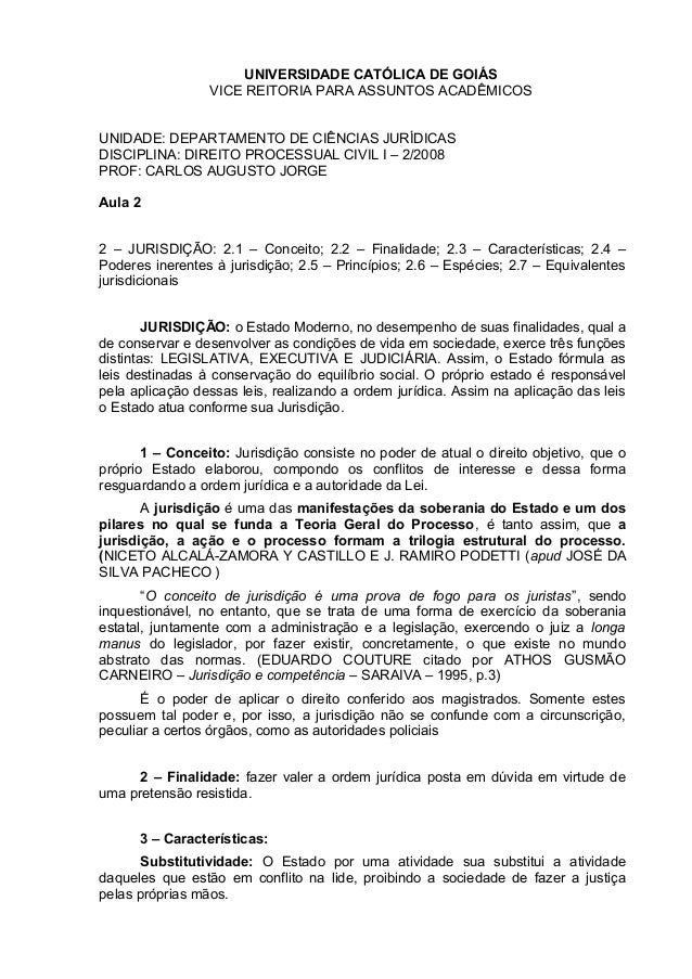 UNIVERSIDADE CATÓLICA DE GOIÁS VICE REITORIA PARA ASSUNTOS ACADÊMICOS UNIDADE: DEPARTAMENTO DE CIÊNCIAS JURÍDICAS DISCIPLI...