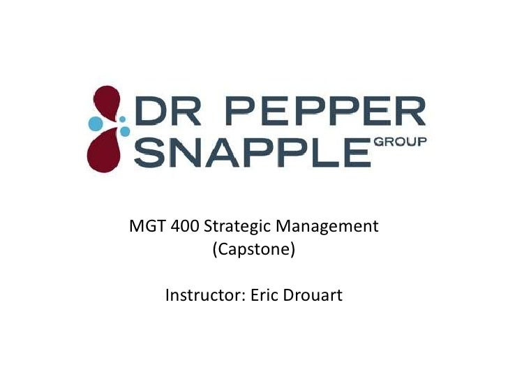 Dr pepper snapple case study essay