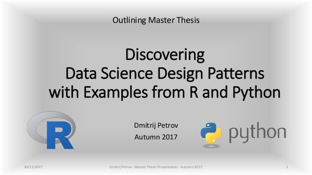 Discovering Data Science Design Patterns With Examples From R And Pyt