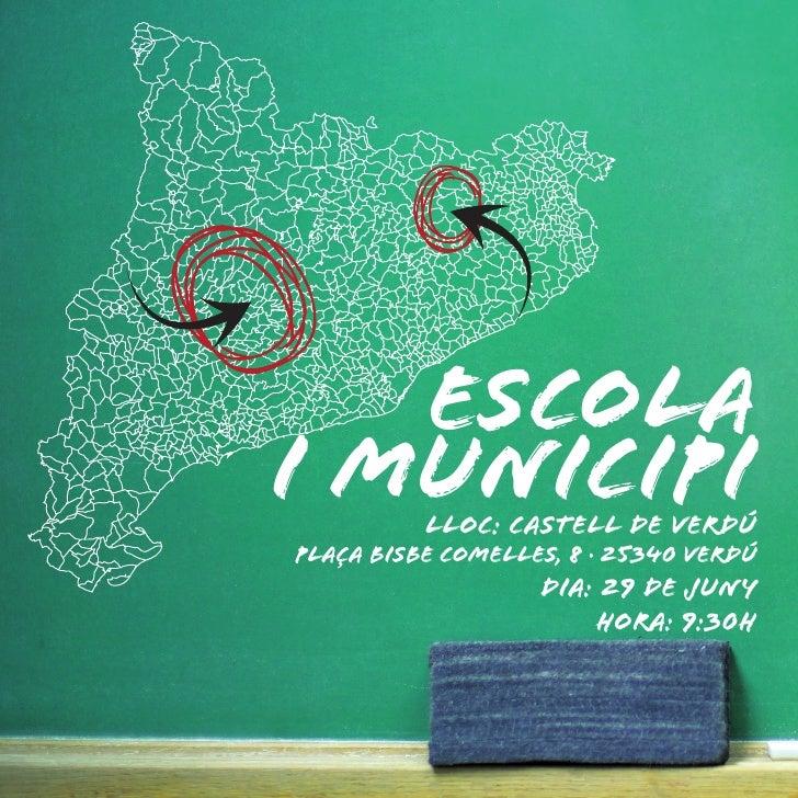 ESCOLA I MUNICIPILloc: CASTELL DE VERDÚ PLAÇA BISBE COMELLES, 8 · 25340 VERDÚ                    Dia: 29 DE JUNY          ...
