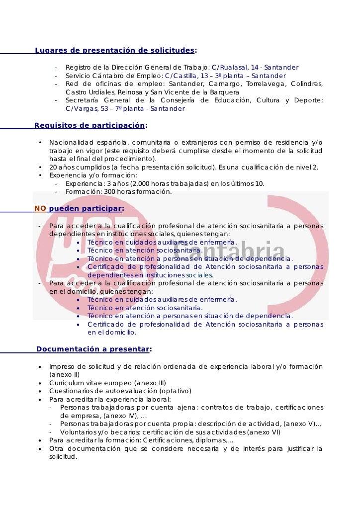 reconocimiento competencias profesionales en cantabria