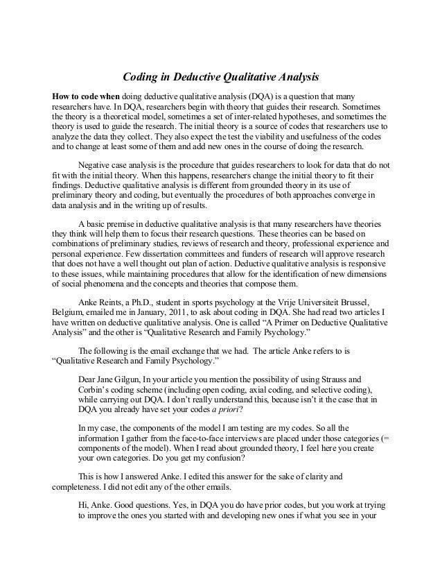 Coding in Deductive Qualitative Analysis Slide 2