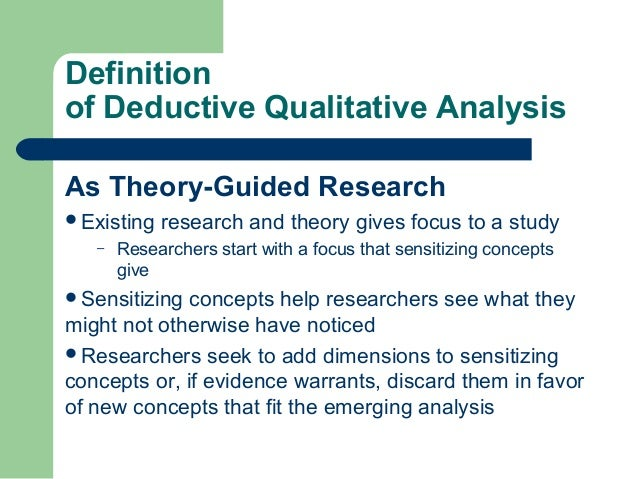 deductive research examples Deductive reasoning involves drawing conclusions from specific statements called premises learn more about deductive reasoning and test your.