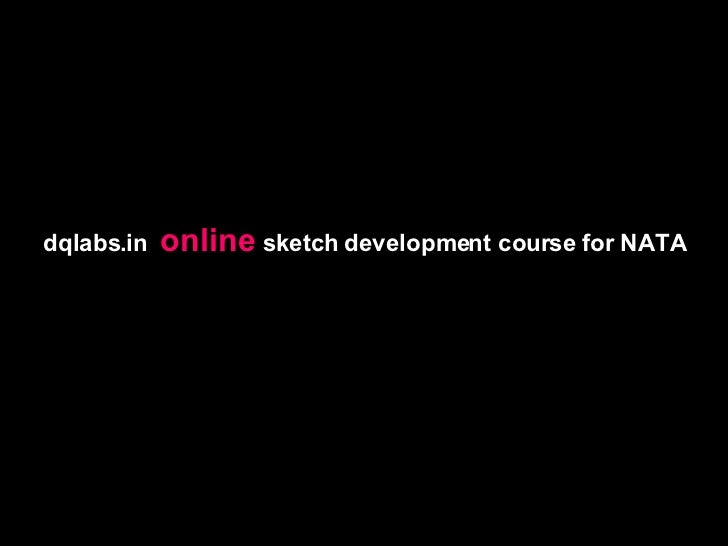 dqlabs.in  online  sketch development course for NATA