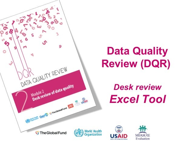 Data Quality Review (DQR) Desk review Excel Tool