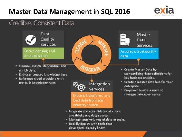 Master Data Management in SQL 2016