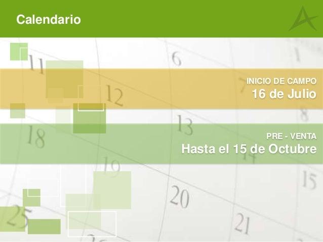 calendario de octubre