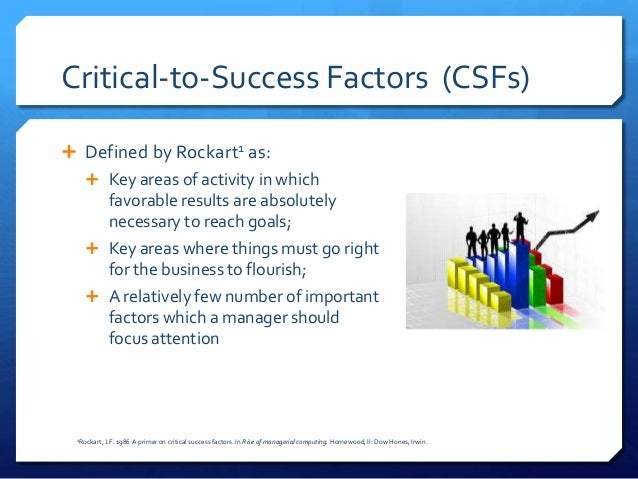critical success factors csfs in erp Constructs that represent critical success factors of erp implementation projects based on a survey of 53  conceptual domians of csfs for erp implementation.