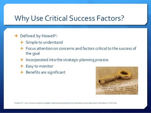 how to write critical success factors as kpi