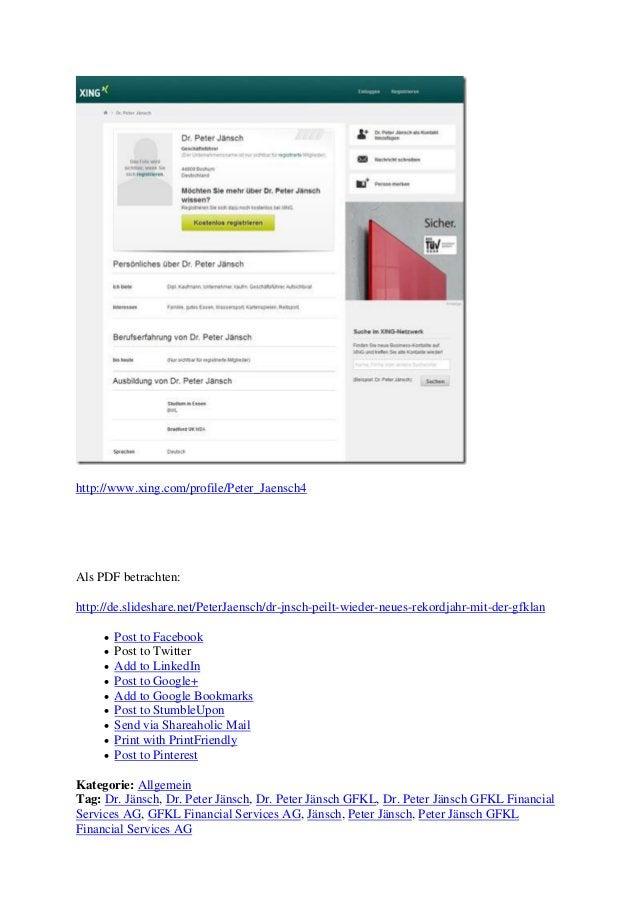http://www.xing.com/profile/Peter_Jaensch4 Als PDF betrachten: http://de.slideshare.net/PeterJaensch/dr-jnsch-peilt-wieder...
