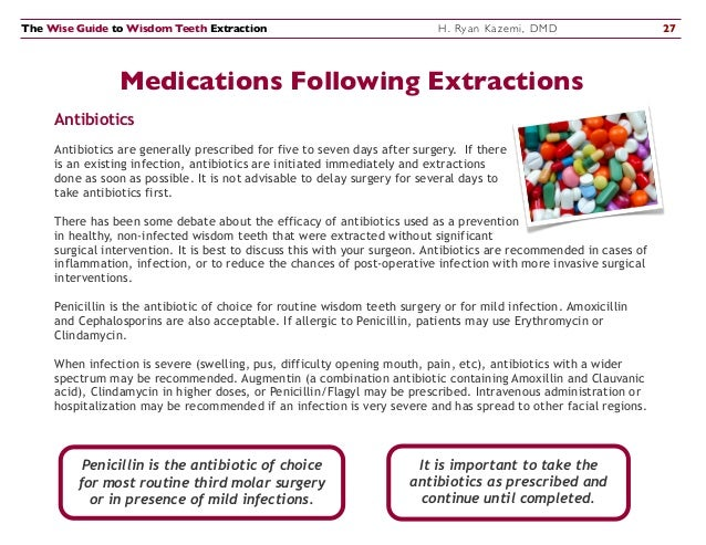 Antibiotics After Tooth Extraction?   Surgical Arts Centre