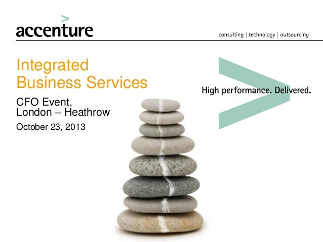 Integrated Business Services CFO Event, London – Heathrow October 23, 2013
