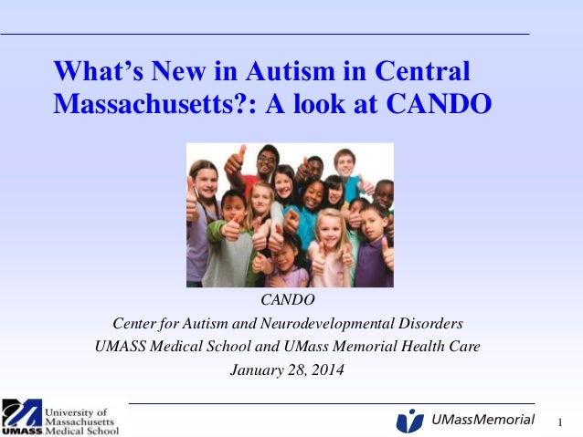 Autism Summit 2014 - Dr  Jean Frazier, CANDO, UMass Medical School