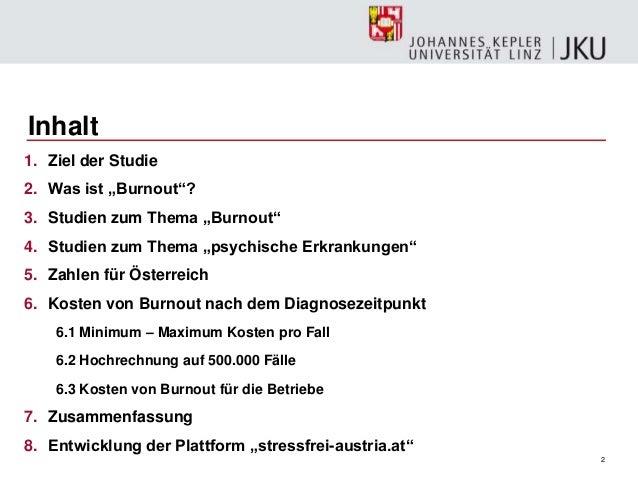Dr. Dreer: Burnout vortrag JKU Linz