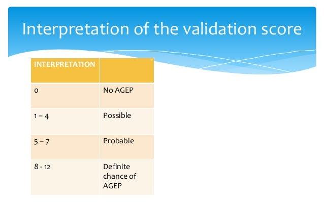 LAB. values DRESS SJS/TEN AGEP Hepatitis +++ + + Neutrophils Normal or increase Decrease +++ Eosinophil +++ Normal + Atypi...