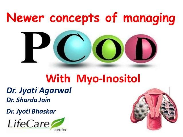 Newer concepts of managing  With Myo-Inositol  Dr. Jyoti Agarwal  Dr. Sharda Jain  Dr. Jyoti Bhaskar