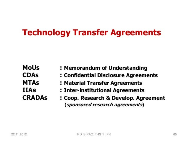 Dr Ravi Dhar On Technology Transfer An Overview