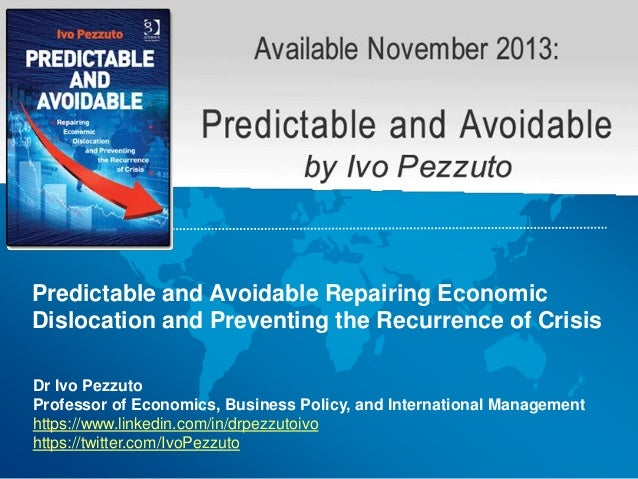 Dr Ivo Pezzuto Professor of Economics, Business Policy, and International Management https://www.linkedin.com/in/drpezzuto...