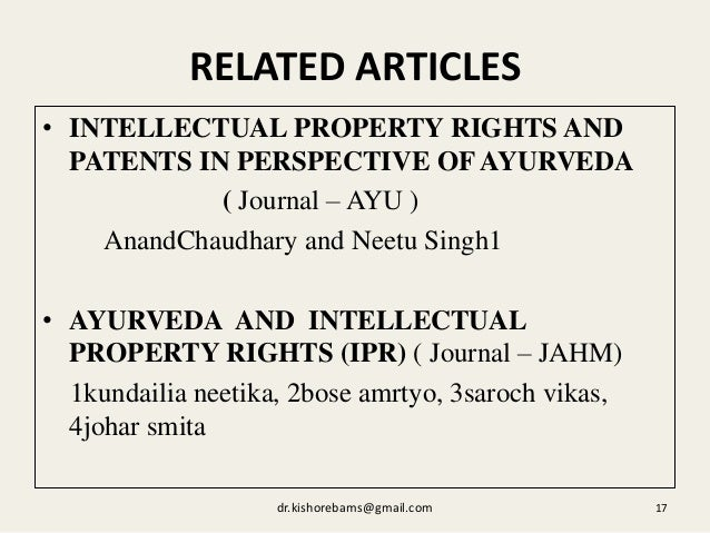 Intellectual Property Rights And Patents Textbook