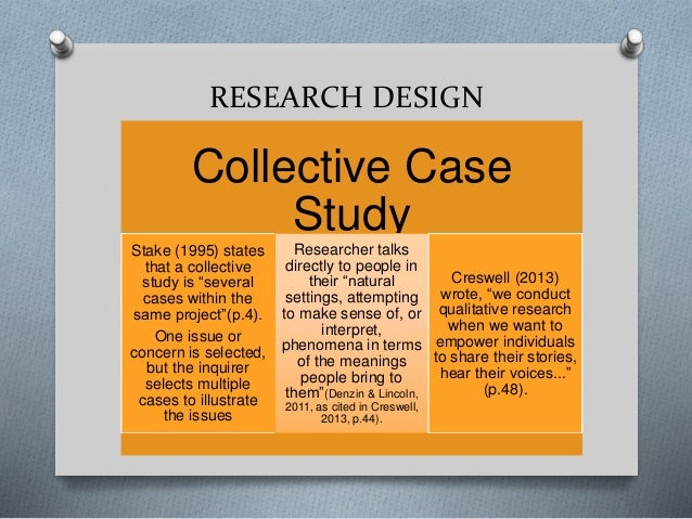 Yin Collective Case Study - The case study approach