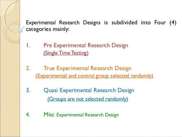 Experimental Research Design Nwc 2015 Dr Brij Kishore