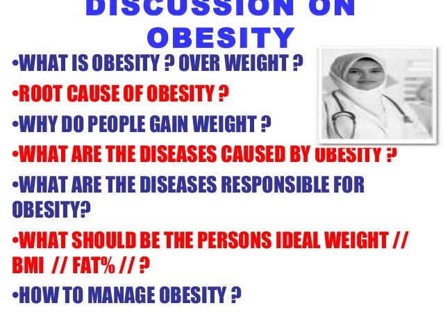 Obesity.. Who is responsible for our weight?