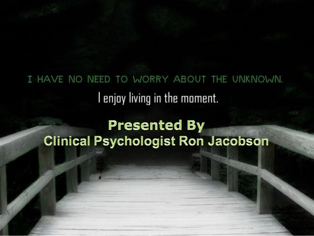 Dr. Ron Jacobson, PHD - Personal Growth
